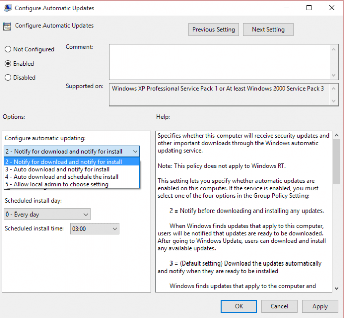 Windows 10 Updates - Group Policy Edit - Notify on Download and Install