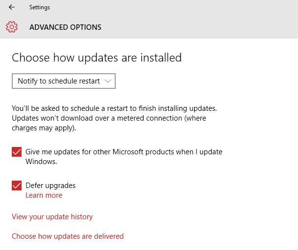 Windows 10 Updates - Notify To Schedule Restart