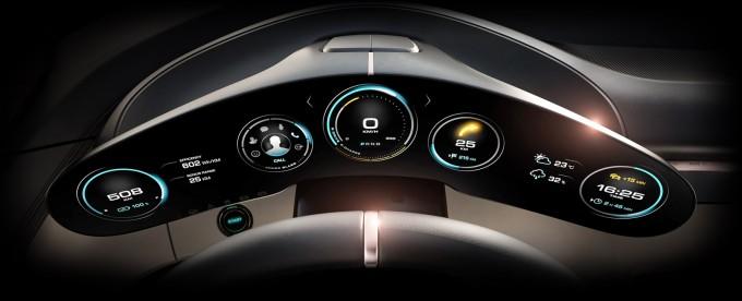 Porsche Mission E Dashboard