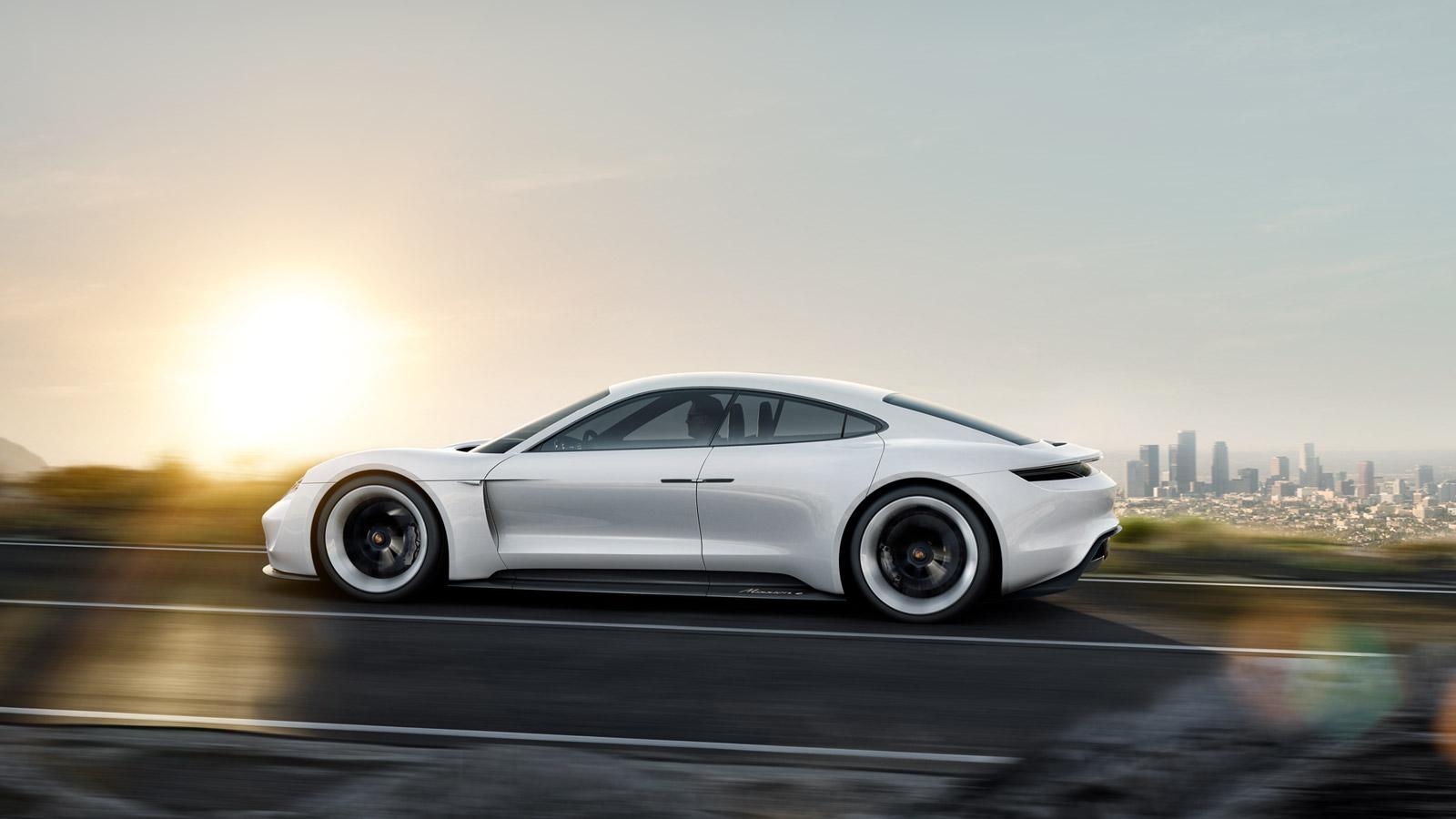 Porsche S Mission E Concept Car Electrifies Frankfurt