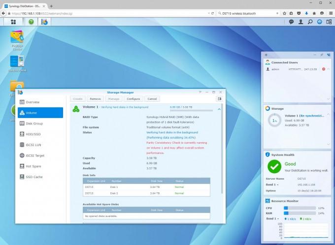 Synology DS715 DSM OS - RAID Rebuild