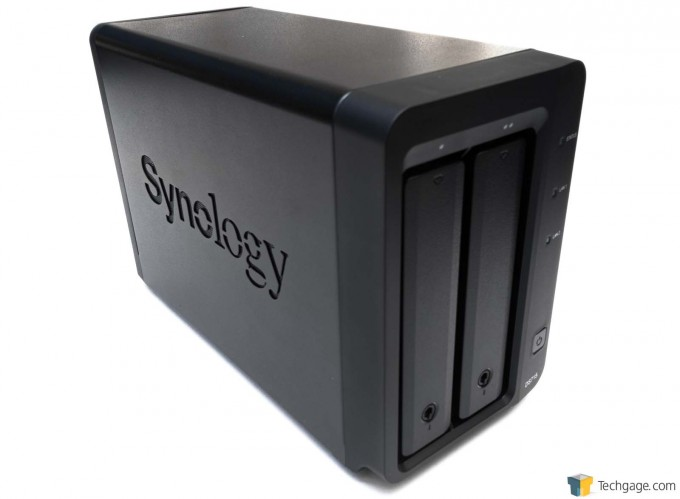 Synology DS715 NAS - Left Side Press Shot
