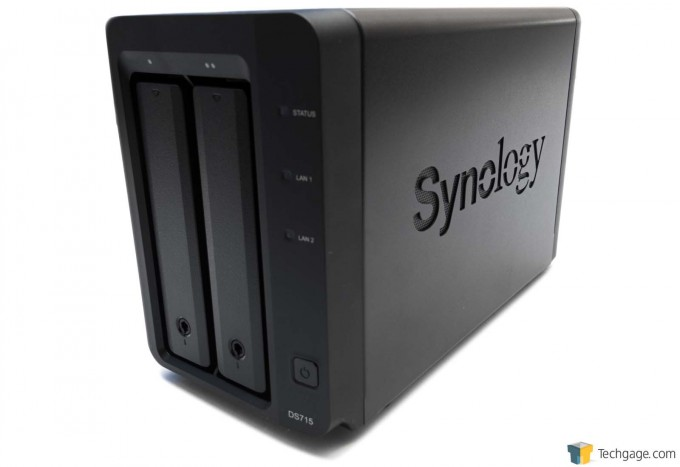 Synology DS715 NAS - Right Side Press Shot