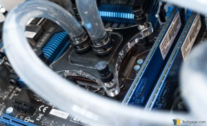 XSPC RayStorm D5 RX360 V3 Watercooling Kit - Close-up of Fully Installed Water Block