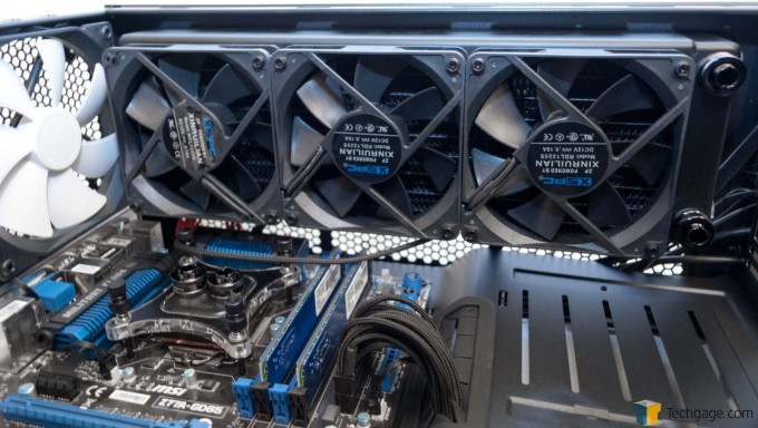 XSPC RayStorm D5 RX360 V3 Watercooling Kit - Radiator Installed