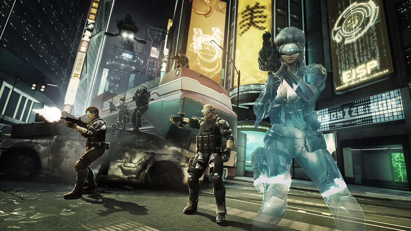 Ghost In The Shell First Assault Stand Alone Complex Online Game Engine Screenshot Techgage