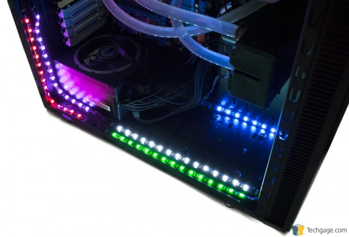 BitFenix Alchemy 2.0 Magnetic LED Strips - Five Sets Of Lights Installed In PC