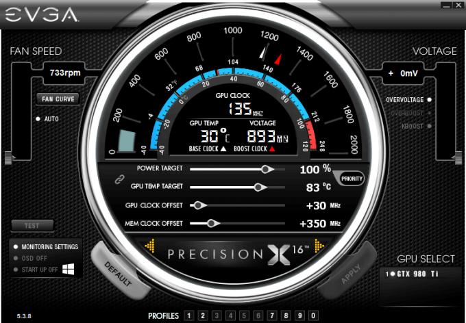 EVGA GeForce GTX 980 Ti FTW Overclock