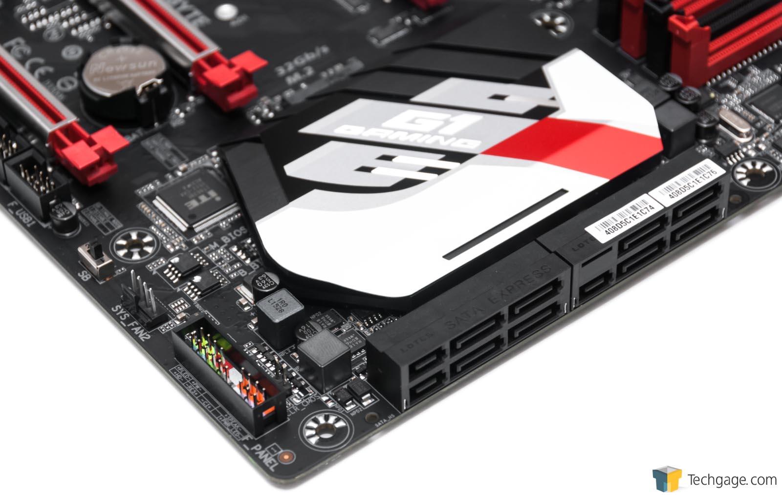 7 Pin Sata Connectors On Motherboard: GIGABYTE GA-Z170X-Gaming 7 Motherboard Review