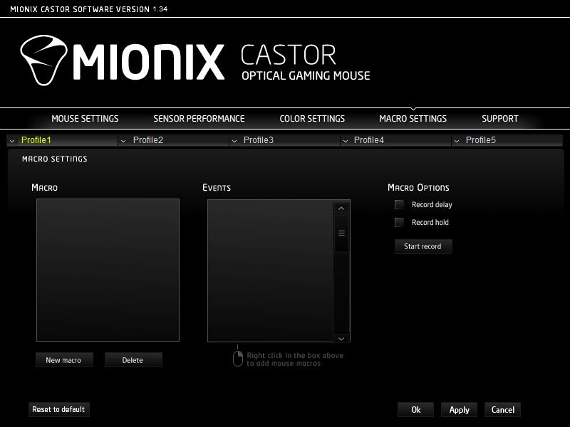 Mionix Castor Gaming Mouse – Macro Settings – Techgage