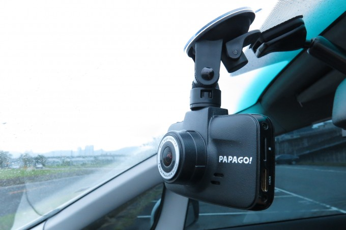 PAPAGO GoSafe 520 Dashcam Installed On Windshield
