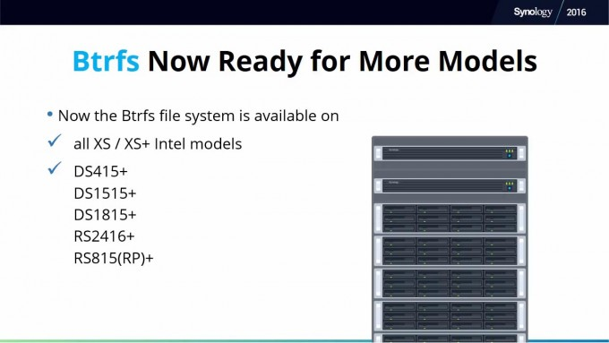 Synology DSM 6.0 Btrfs Supported Systems