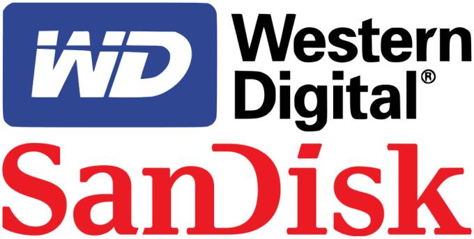 Western Digital and SanDisk Logos