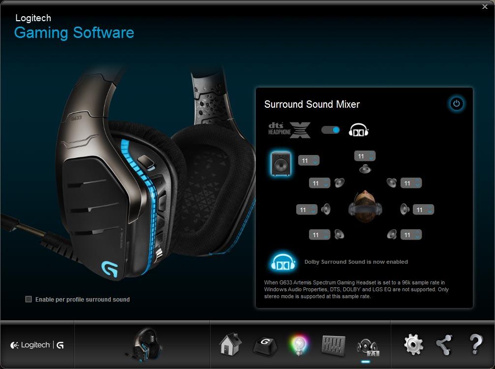 Logitech G633 Artemis Spectrum RGB 7.1 Surround Sound Headset Review ...