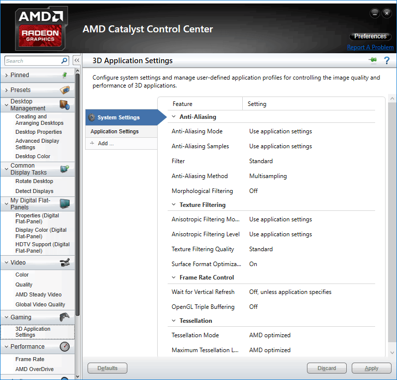 Catalyst control center ati radeon