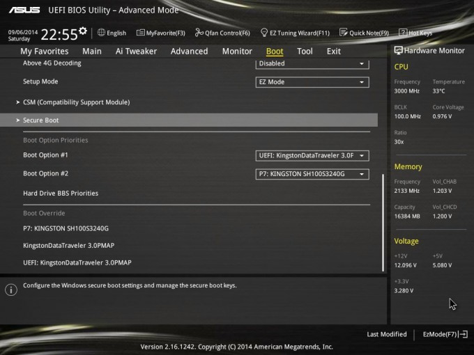 ASUS X99-DELUXE - Selecting Boot Device In The EFI