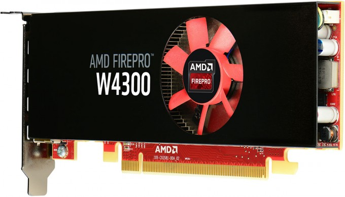 AMD FirePro W4300 Workstation Graphics Card - Side View