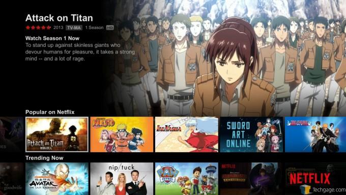 SHIELD Android TV - Netflix UI