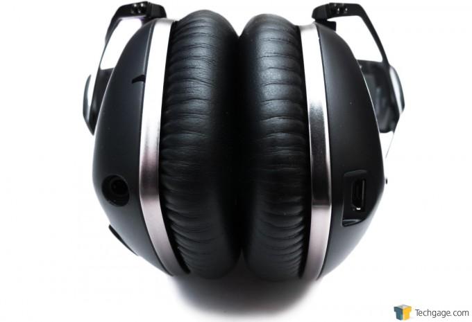V-MODA Crossfade Wireless Bluetooth Headset - Input Jack And Micro-USB Port Close-Up
