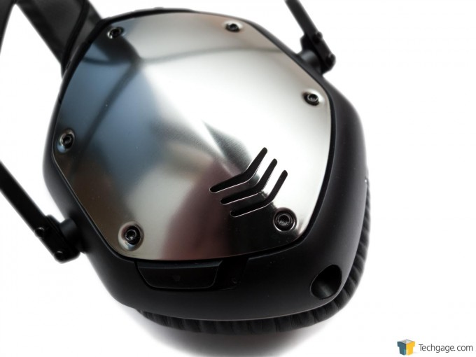 V-MODA Crossfade Wireless Bluetooth Headset - Side Panel Close-Up