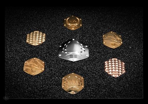 Variety Of 3D Printed V-MODA Shields