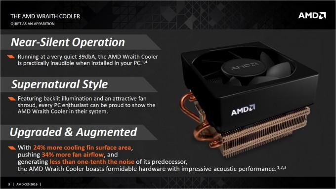 AMD Wraith Cooler Slide Info