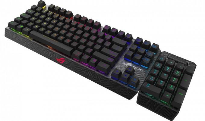 ASUS ROG Claymore Mechanical Keyboard Press Shot