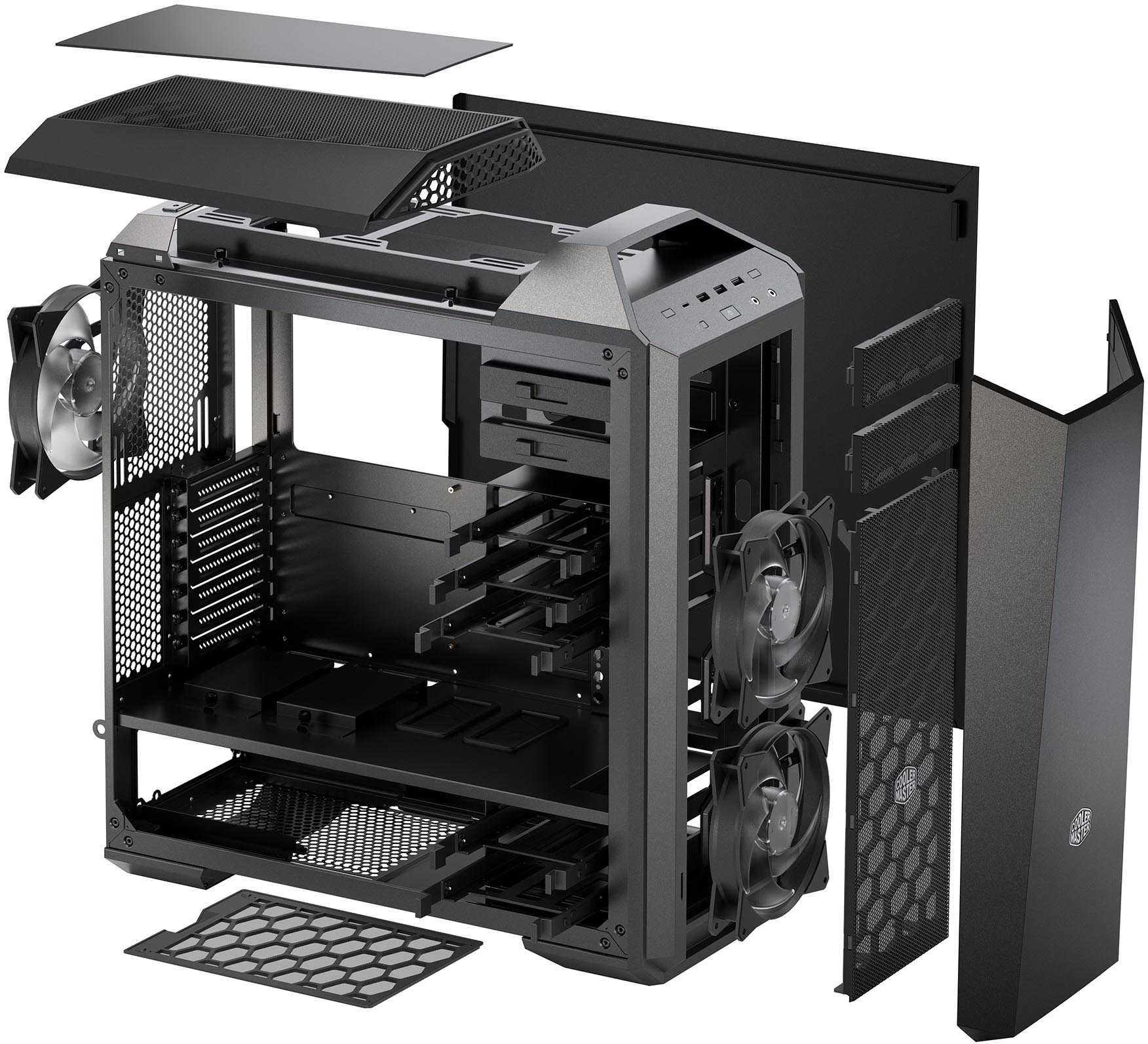Cooler Master MasterCase Maker 5 Exploded Diagram cooler master ces 2016 modular chassis and psu, peripherals Walk-In Cooler Refrigeration Diagrams at gsmx.co