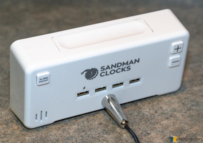 PAI Sandman Clock - Back with 4x USB Charging Ports