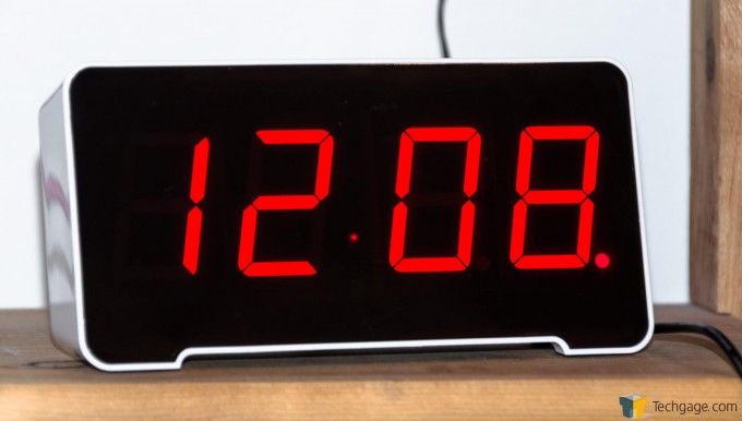 PAI Sandman Clock - Large Bright 7-Segment LED Display