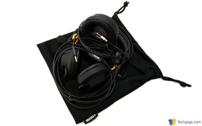Techgage Review Of The FNATIC Duel Gaming Headset All Gear With Bag Shot