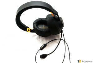 Techgage Review Of The FNATIC Duel Gaming Headset Boom Mic Installed