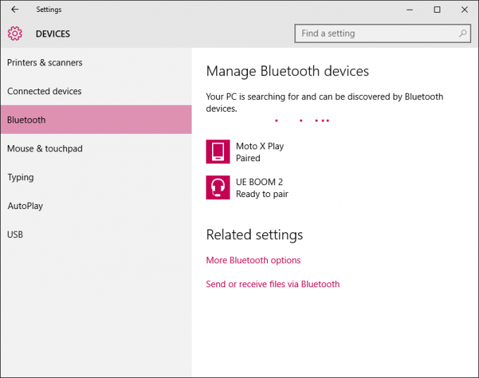 UE BOOM 2 - Device Pairing in Windows