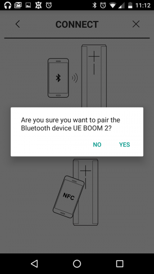 UE BOOM 2 - Device Pairing with NFC