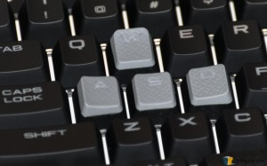 Corsair Strafe RGB Silent Keyboard (5) Textured WASD Keys