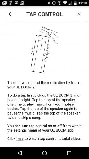 UE BOOM 2 - Tap Control