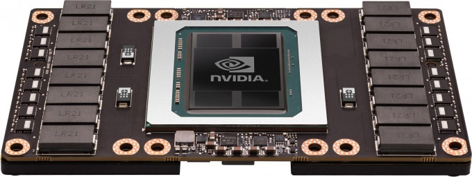 NVIDIA Tesla P100 GPU Press Shot