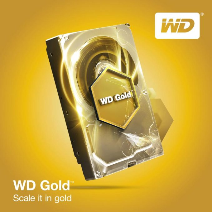 Western Digital WD Gold Series HDD Press Image