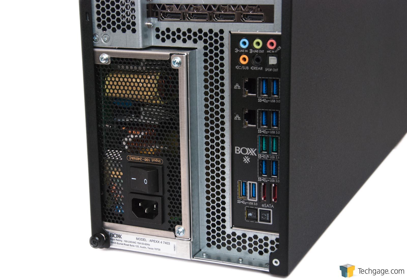 boxx apexx 4 overclocked desktop workstation review � techgage