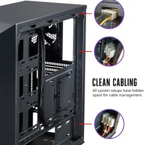 Cooler Master Masterbox 5 Cable Management Press Shot