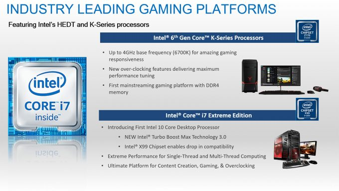 Intel Gaming Processor Platforms