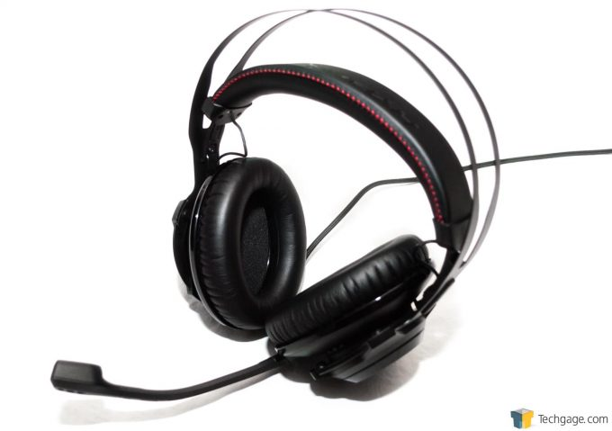 Techgage Review of the HyperX Cloud Revolver Photo Main Body With Mic Attached