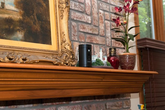 Techgage Review Of The Zmodo Pivot Camera System In Place On Mantle