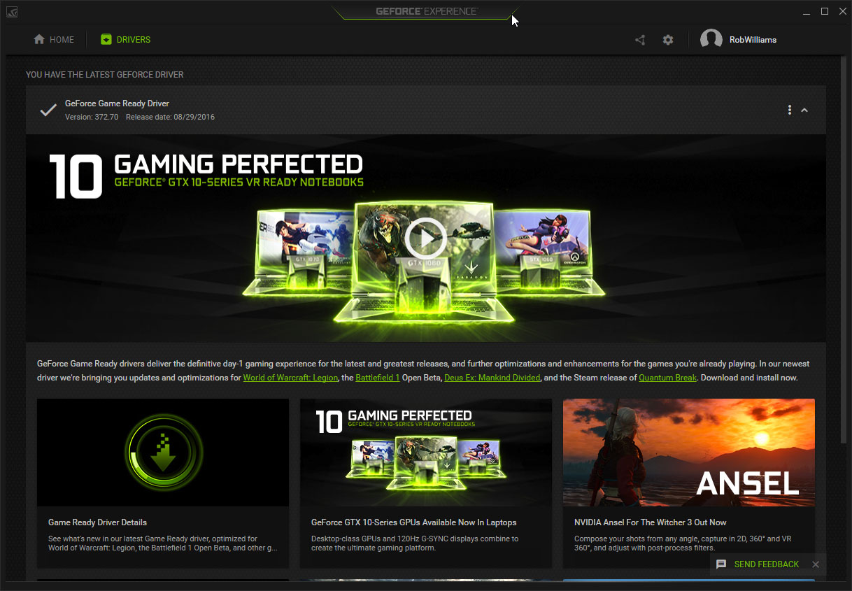 Nvidia Releases Geforce Experience 3 0 Boasts An Entirely