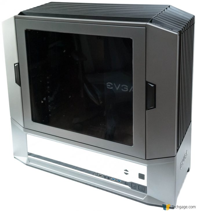 Techgage Review Of The Evga Dg 87 Gaming Case Shot Front Side Shot