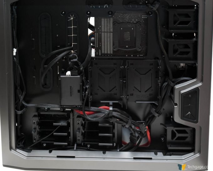 Techgage Review Of The Evga Dg 87 Gaming Case Shot Rear Complete