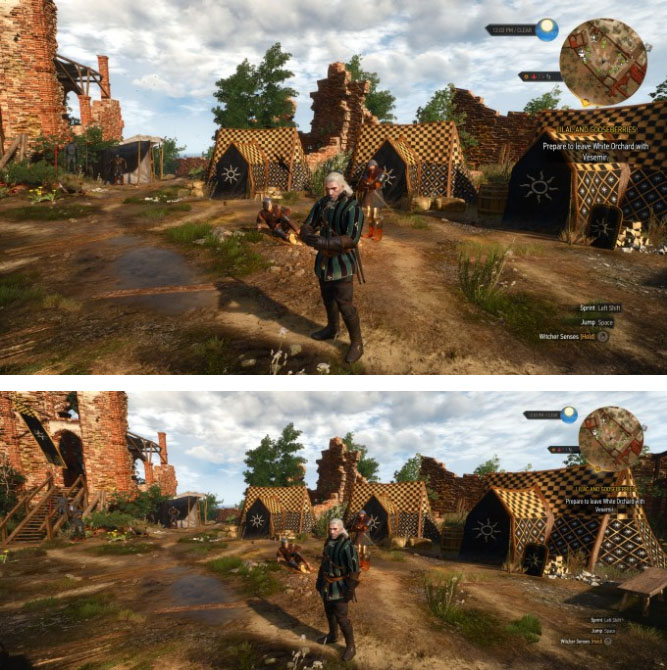 The Witcher 3: Wild Hunt - 16:9 vs 21:9 Rendering