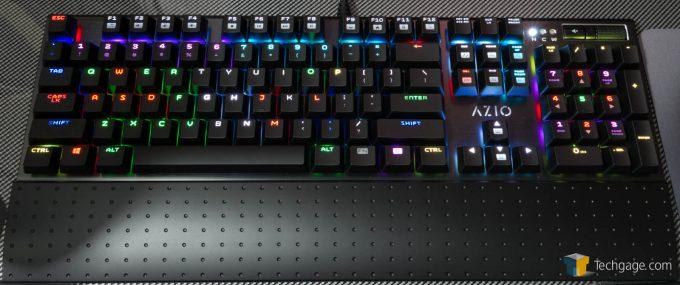 AZIO MGK1 RGB Keyboard Review Individual Key Backlights