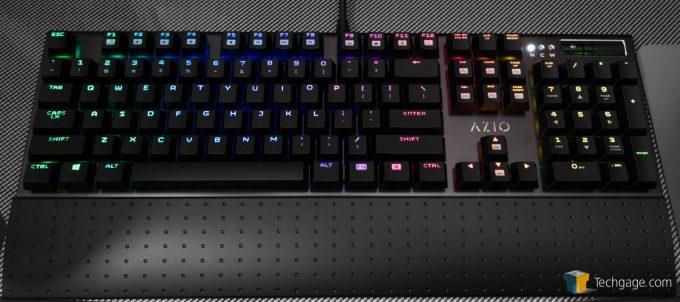 AZIO MGK1 RGB Keyboard Review Spectrum Wave Lightin