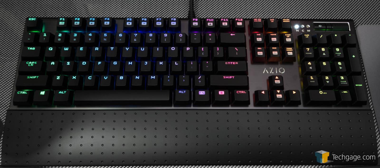 e59f069c3d0 AZIO MGK1 RGB Backlit Mechanical Gaming Keyboard Review – Techgage